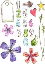 PaperArtsy Stamp - JOFY Collection JOFY22